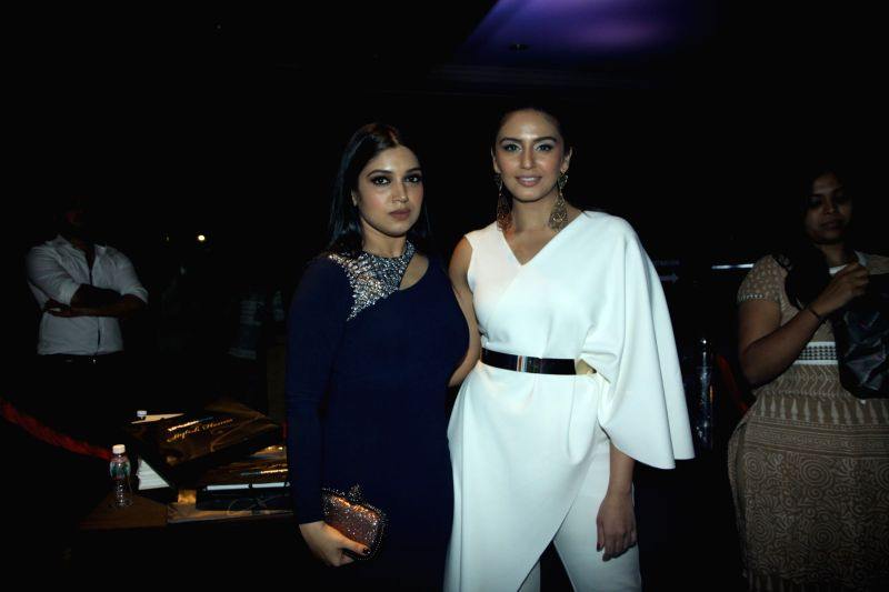 Actors Bhumi Pednekar and Huma Qureshi during the Hindustan Times Mumbai`s Most Stylish 2015 Awards in Mumbai, on March 26, 2015. - Bhumi Pednekar and Huma Qureshi