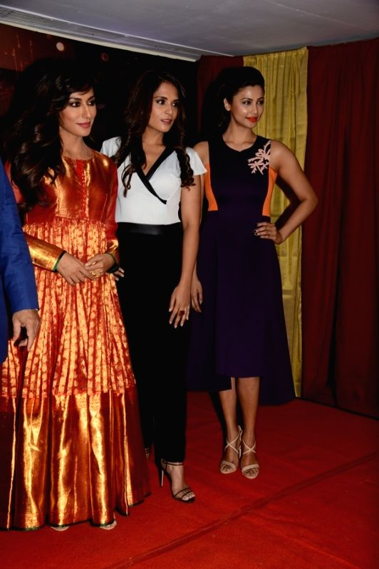 Actors Chitrangada Singh, Richa Chadda and Daisy Shah during the announcement of Country Club's New Year celebrations in Mumbai on Oct 28, 2015. - Chitrangada Singh, Richa Chadda and Daisy Shah