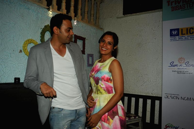 Actors Cyrus Sahukar and Richa Chadda at their forthcoming play 'Trivial Disasters' press conference in Mumbai on Wednesday, July 30th, 2014. - Cyrus Sahukar and Richa Chadda