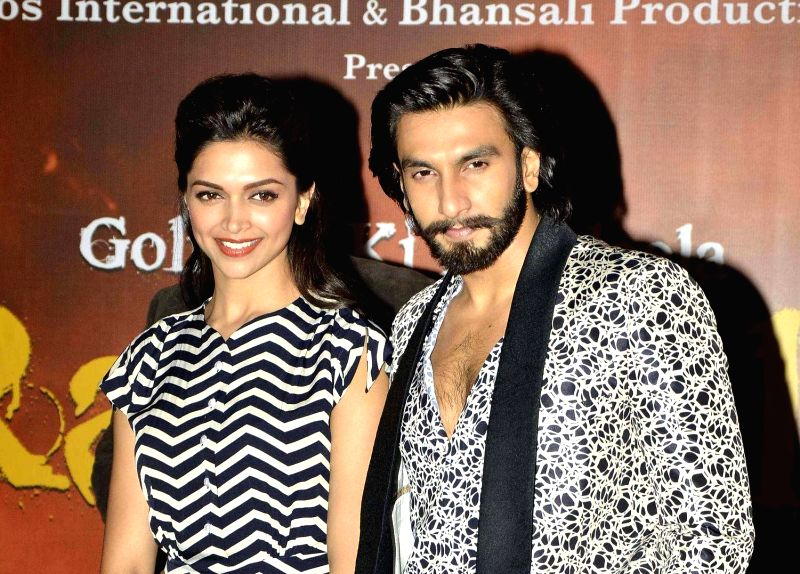:Actors Deepika Padukone and Ranveer Singh during the inauguration of India's first megaplex from Cinepolis at Seasons Mall in Pune on November 15, 2013. (Photo: IANS).(Image Source: IANS)