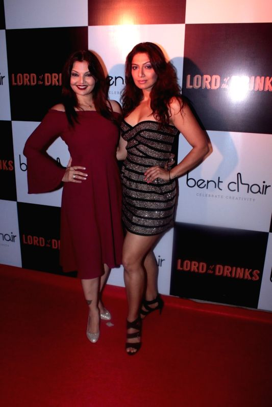 Actors Deepshikha Nagpal and Aakruti Nagpal during the launch of Resto-bar, Lord of the Drinks in Mumbai on April 28, 2017. - Deepshikha Nagpal and Aakruti Nagpal