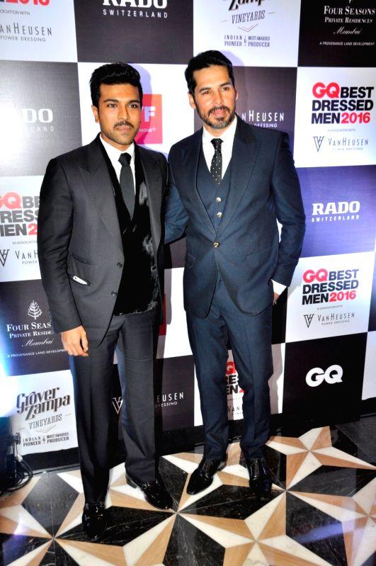 Actors Dino Morea and Ram Charan during GQ Best Dressed Men 2016 Awards, in Mumbai, on June 2, 2016. - Dino Morea and Ram Charan