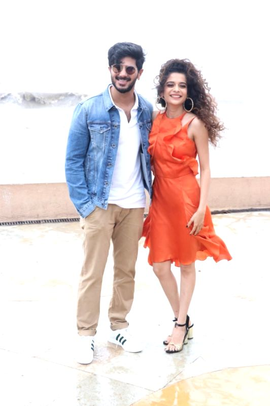"Actors Dulquer Salmaan and Mithila Palkar during the promotion of their upcoming film ""Karwaan"" in Mumbai on July 14, 2018. - Dulquer Salmaan and Mithila Palkar"