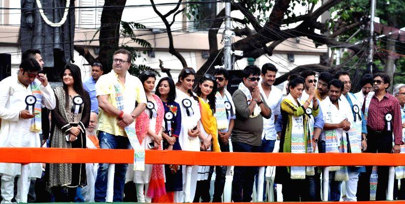 Actors during the Trinamool Congress (TMC) Shaheed Diwas rally in Kolkata on July 21, 2016.