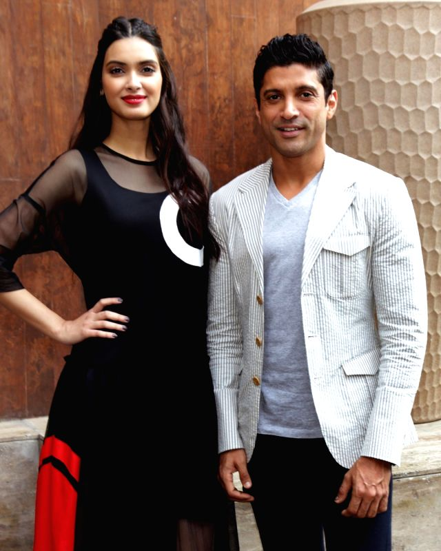 "Lucknow Central"" - promotion - Farhan Akhtar and Diana Penty"