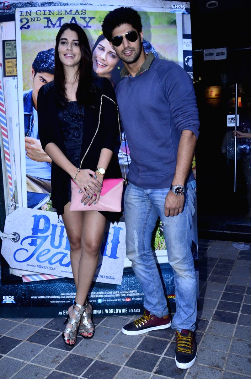 Actors Izabelle Leite and Tanuj Virwani during a media interaction of movie Purani Jeans in Mumbai on April 30, 2014. - Izabelle Leite and Tanuj Virwani