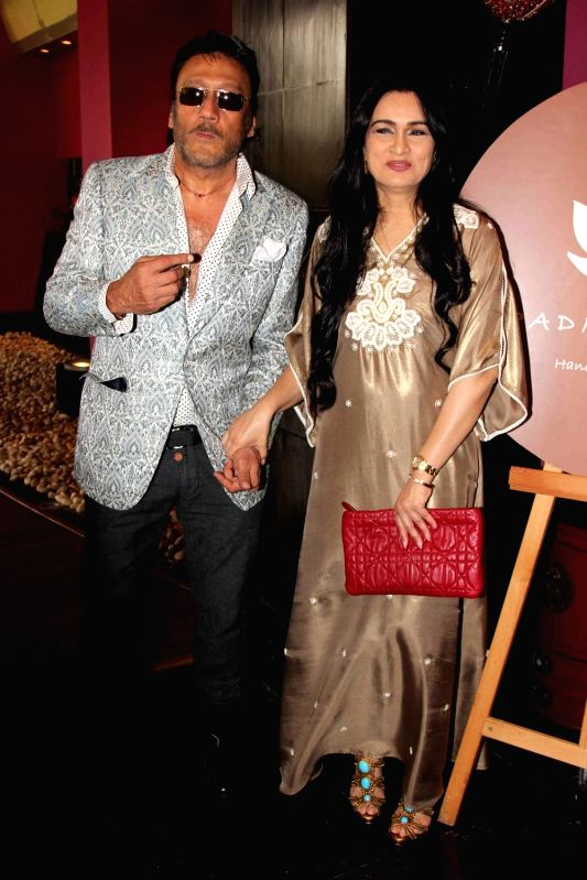 Actors Jackie Shroff and Padmini Kolhapure during the showcase of Padmasitaa Vivaha exhibition in Mumbai, on November 20, 2015. - Jackie Shroff and Padmini Kolhapure