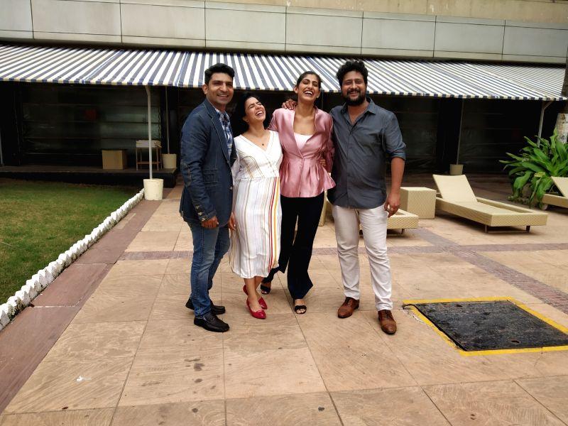 Actors Jatin Sarna, Rajshri Deshpande, Kubra Sait and Jitendra Joshi arrive for an interview, in Mumbai's Juhu on Aug 2, 2018. - Jatin Sarna, Rajshri Deshpande, Kubra Sait and Jitendra Joshi