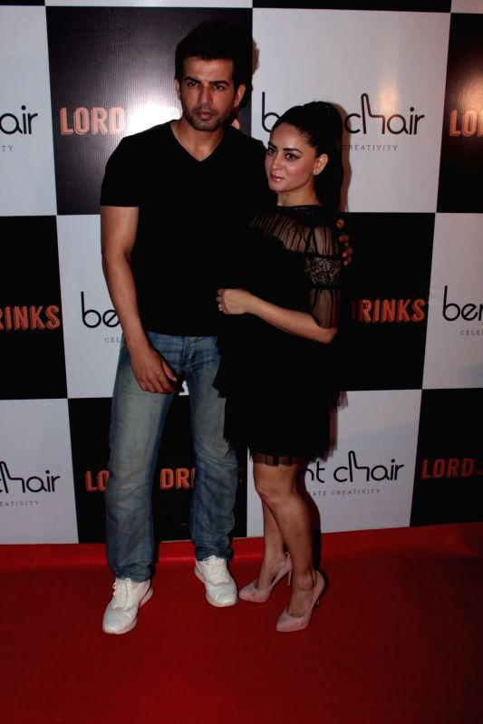 Actors Jay Bhanusali and Mahi Vij during the launch of Resto-bar, Lord of the Drinks in Mumbai on April 28, 2017. - Jay Bhanusali and Mahi Vij