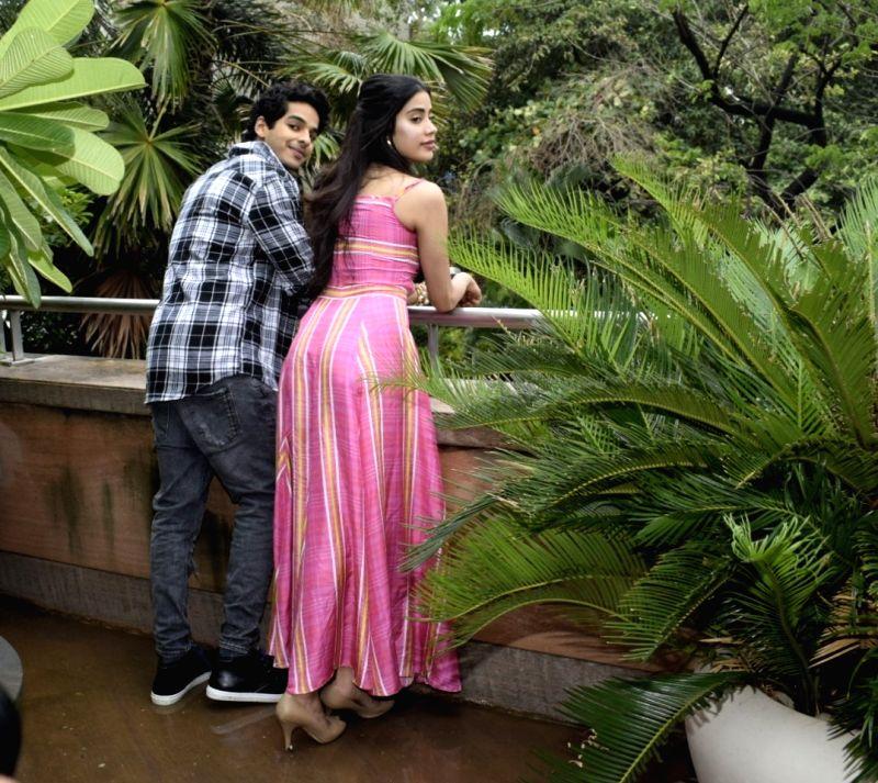 Actors Jhanvi Kapoor and Ishaan Khatter seen at a hotel in Mumbai's Juhu on July 15, 2018. - Jhanvi Kapoor and Ishaan Khatter