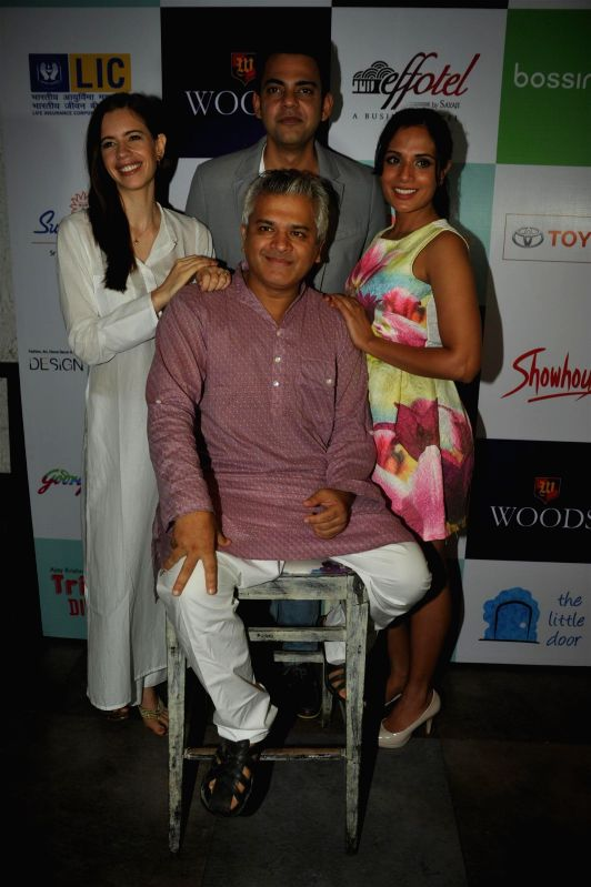 Actors Kalki Koechlin, Cyrus Sahukar and Richa Chadda with Atul Kumar at their forthcoming play 'Trivial Disasters' press conference in Mumbai on Wednesday, July 30th, 2014. - Kalki Koechlin, Cyrus Sahukar, Richa Chadda and Atul Kumar