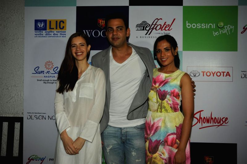 Actors Kalki Koechlin, Cyrus Sahukar and Richa Chadda at their forthcoming play 'Trivial Disasters' press conference in Mumbai on Wednesday, July 30th, 2014. - Kalki Koechlin, Cyrus Sahukar and Richa Chadda