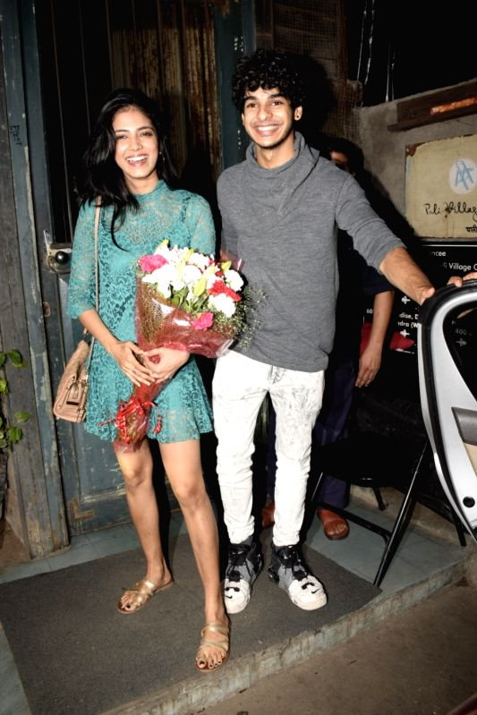 Actors Malavika Mohanan and Ishaan Khatter seen at a cafe in Mumbai's Bandra on Aug 5, 2018. - Malavika Mohanan and Ishaan Khatter