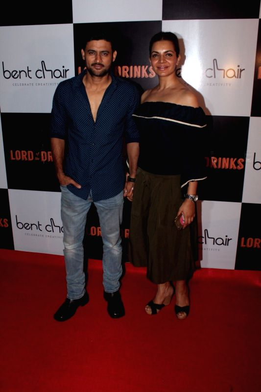 Actors Manav Gohil and Shweta Kawatara during the launch of Resto-bar, Lord of the Drinks in Mumbai on April 28, 2017. - Manav Gohil and Shweta Kawatara