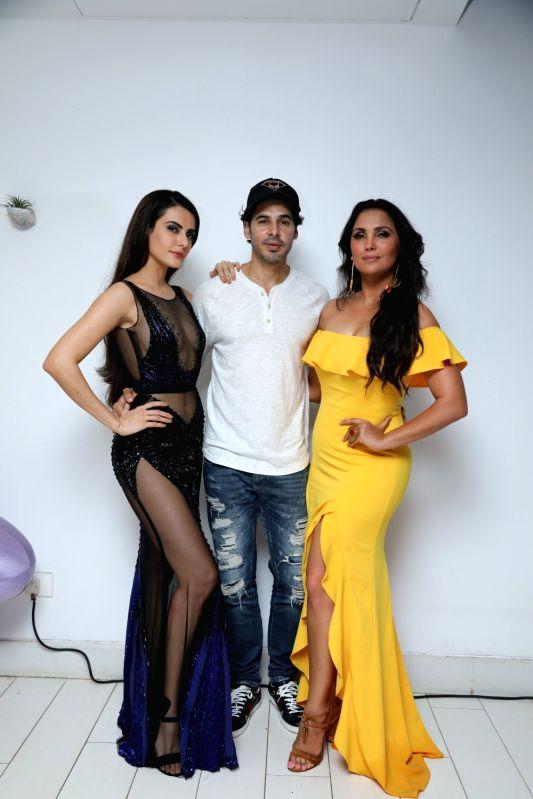 Actors Mandana Karimi, Dino Morea and Lara Dutta Bhupathi at the red carpet for Miss Diva sub contest in Goa. - Mandana Karimi, Dino Morea and Lara Dutta Bhupathi