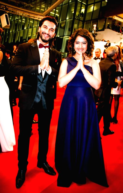 Actors Manish Raisinghani and Avika Gor  at 69th Cannes Film Festival in France. - Manish Raisinghani and Avika Gor