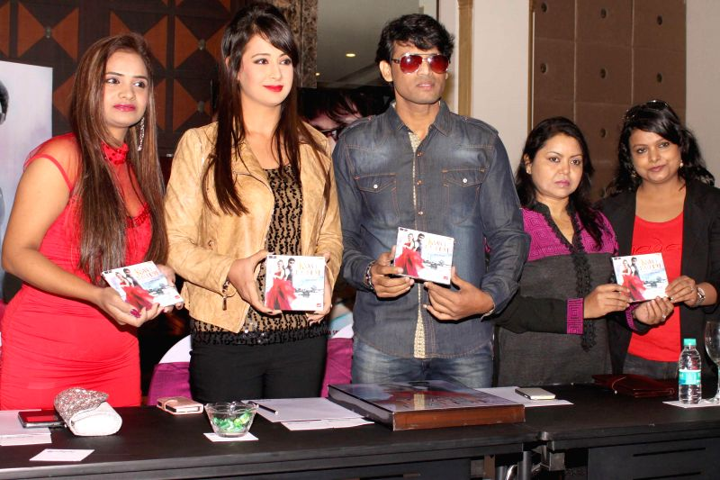 Actors Manju Bharti, Mukesh Bharti and Preeti Jhangiani at the press conference of film `` Kaash Tum Hote`` in Noida on Dec 2, 2014. - Manju Bharti, Mukesh Bharti and Preeti Jhangiani
