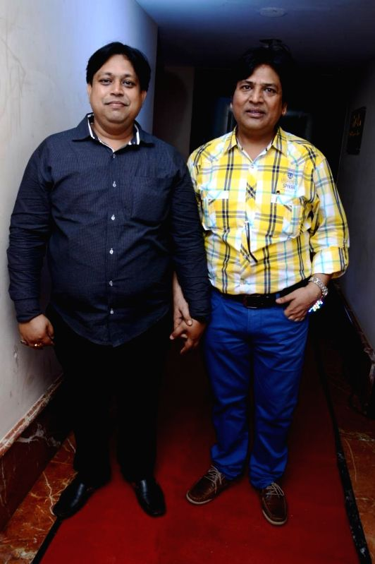 Actors Manoj Bindal, Abhishek Bindal during the music launch of film Mainu Ek Ladki Chahiye in Mumbai on Aug 11, 2014. - Manoj Bindal and Abhishek Bindal