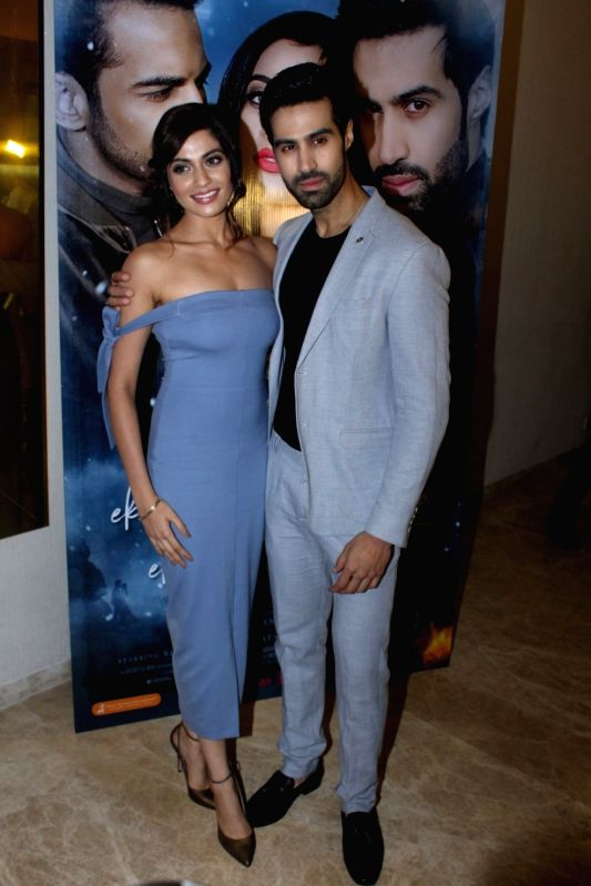 "Actors Natasha Fernandez and Shiv Darshan during the music launch of film ""Ek Haseena Thi Ek Deewana Tha"" in Mumbai, on June 12, 2017. - Natasha Fernandez and Shiv Darshan"