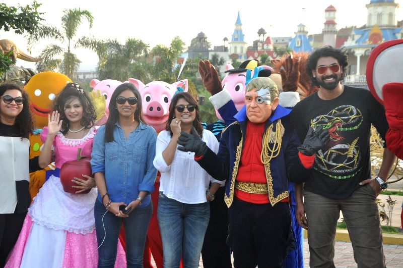 Actors Pallavi Joshi and Rana Duggubati during the launch of IMAGICA Parade at Khapoli in Mumbai on 10 May, 2014. - Pallavi Joshi