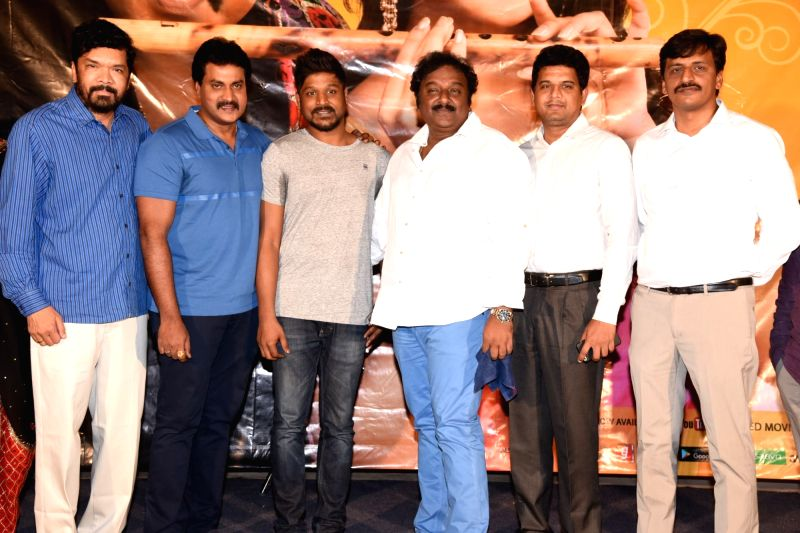 Actors Posani Krishna Murali, Suneel, VV Vinayak during the trailer launch of film Ungarala Rambabu on Hyderabad, June 7, 2017. - Posani Krishna Murali, Suneel and V