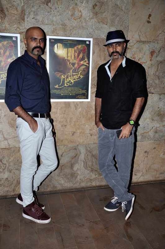 Actors Raghu Ram and Rajiv Laxman during the screening of Short film Makhmal in Mumbai on July 11, 2014. - Raghu Ram and Rajiv Laxman