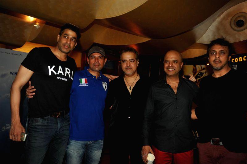 Actors Rajat Bedi, Atul Agnihotri, Ravi Bahl and Naved Jafri during the first look of film Roar in Mumbai, on July 31, 2014. - Rajat Bedi, Atul Agnihotri, Ravi Bahl and Naved Jafri