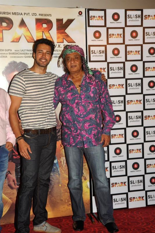 Actors Rajneesh Duggal and Ranjeet during the trailer launch of film Spark in Mumbai on July 21, 2014. - Rajneesh Duggal and Ranjeet