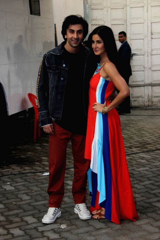 "Actors Ranbir Kapoor and Katrina Kaif during the promotion of film ""jagga Jasoos"" at Mehboob Studio, in Mumbai on June 13, 2017. - Ranbir Kapoor and Katrina Kaif"