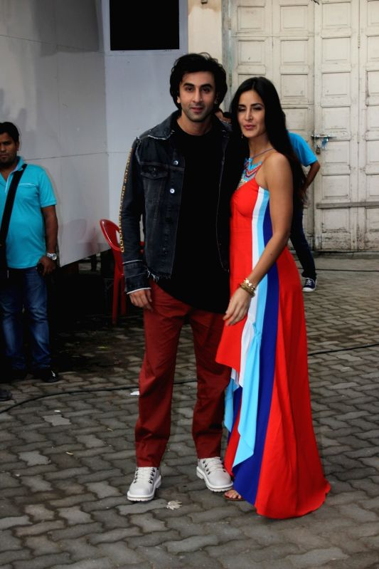 "Actors Ranbir Kapoor and Katrina Kaif during the promotion of film ""jagga Jasoos"" at Mehboob Studio, in Mumbai on June 13, 2017. - Ranbir Kapoor and Katrina Kaif"