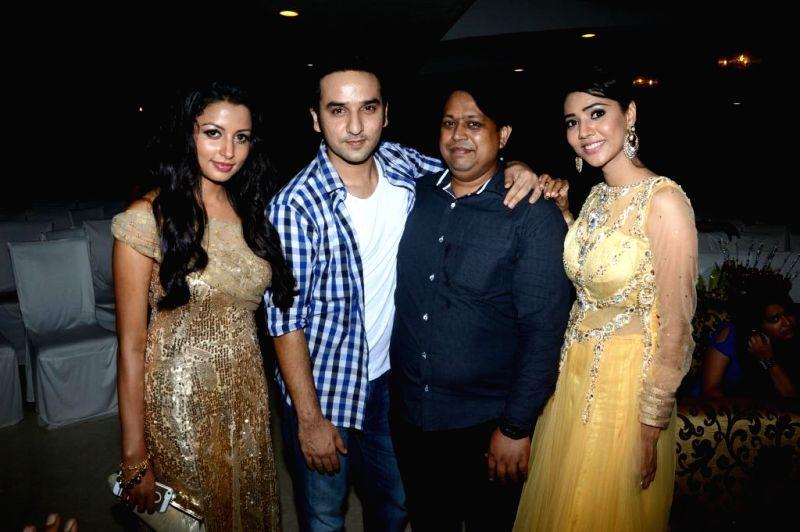Actors Reecha Sinha, Puru Chibber, Manoj Bindal, Rashee during the music launch of film Mainu Ek Ladki Chahiye in Mumbai on Aug 11, 2014. - Reecha Sinha, Puru Chibber, Manoj Bindal and Rashee