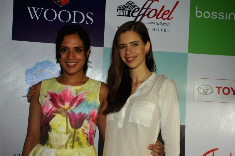 Actors Richa Chadda and Kalki Koechlin at their forthcoming play 'Trivial Disasters' press conference in Mumbai on Wednesday, July 30th, 2014. - Richa Chadda and Kalki Koechlin