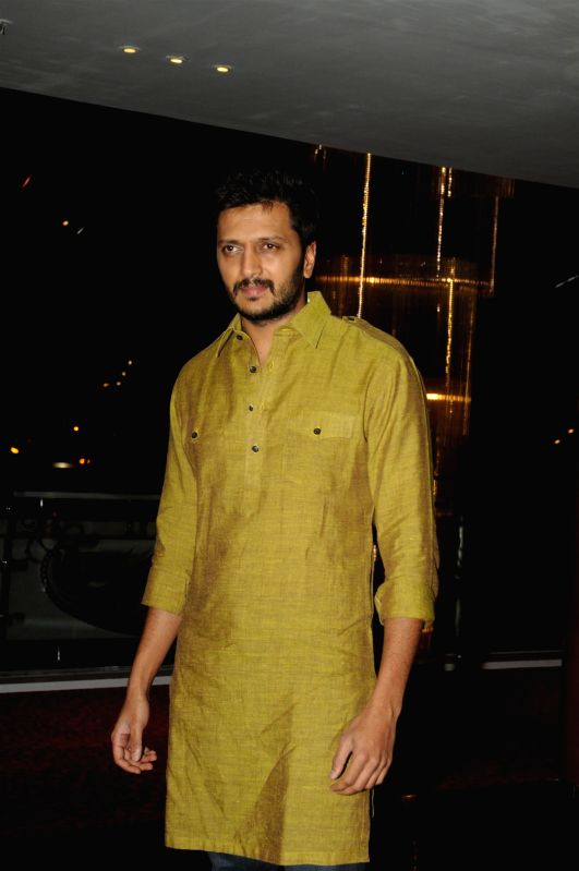Actors Riteish Deshmukh during the success party of film Humshakals organised by Fox Star Studios and filmmaker Vashu Bhagnani in Mumbai on June 24, 2014. - Riteish Deshmukh