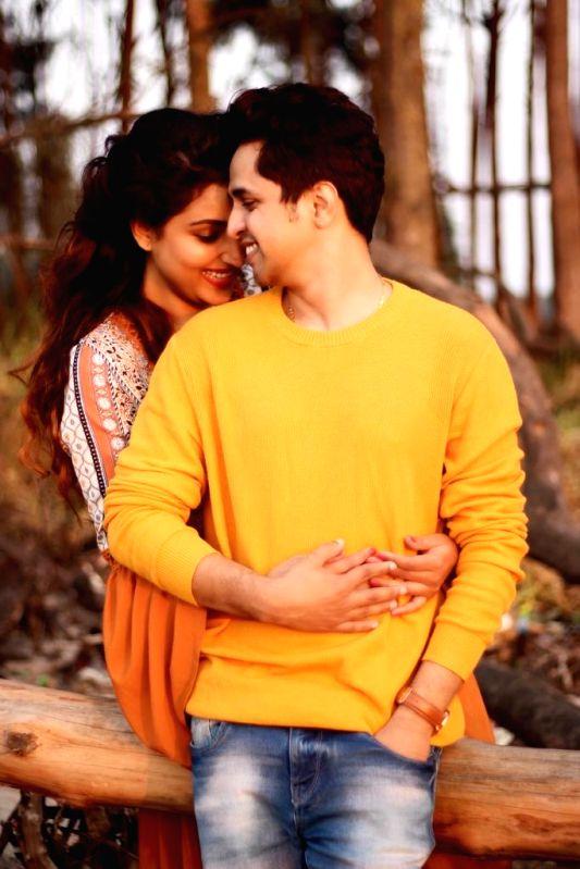 Actors Rupali Bhosle and Ankit Magare.