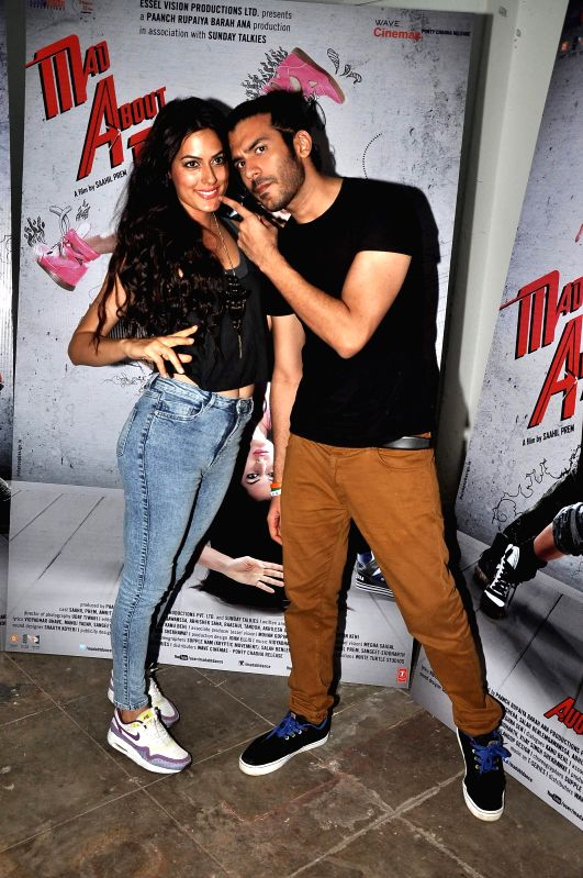 Actors Saahil Prem and Amrit Maghera during the promotion of their upcoming film Mad About Dance in Mumbai on August 5, 2014. - Saahil Prem and Amrit Maghera