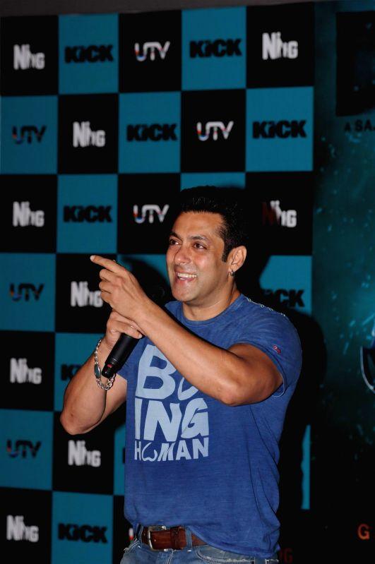 Actors Salman Khan during the launch of song Jumme Ki Raat from his upcoming film Kick in Mumbai on June 20, 2014. - Salman Khan