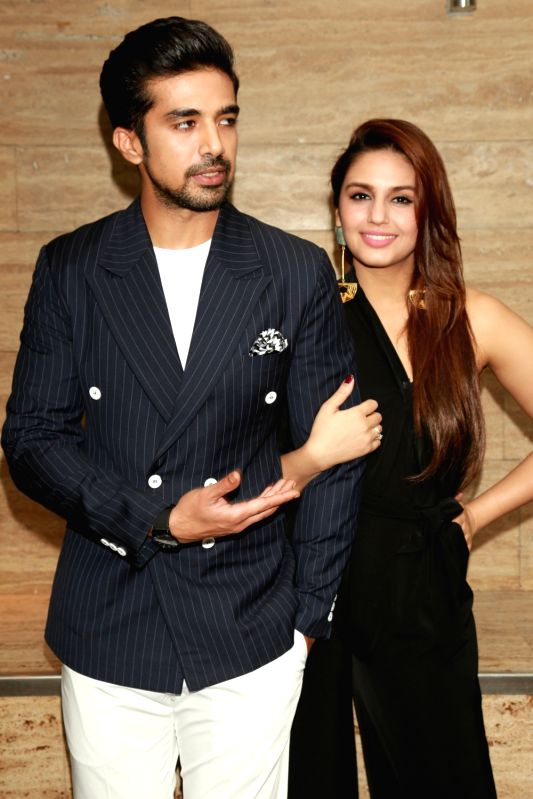 "Actors Saqib Saleem and Huma Qureshi during a press conference to promote their upcoming film ""Dobaara"" in New Delhi, on May 22, 2017. - Saqib Saleem and Huma Qureshi"