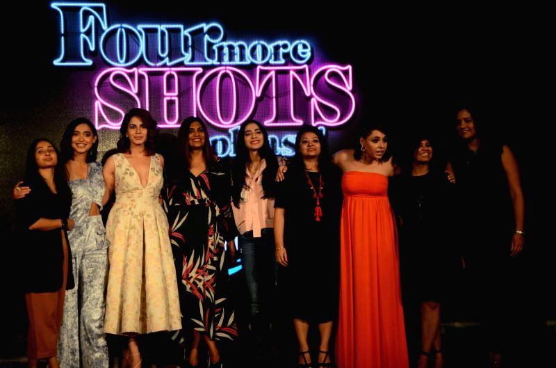 "Actors Sayani Gupta, Kirti Kulhari, Bani J and Maanvi Gagroo at the trailer launch of upcoming Amazon Prime Video romantic comedy-drama series ""Four More Shots Please!"" in Mumbai on ... - Sayani Gupta, Kirti Kulhari, Bani J and Maanvi Gagroo"