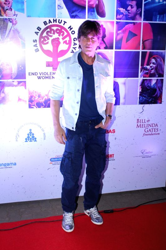 Actors Shah Rukh Khan at the red carpet of Lalkaar concert in Mumbai on Nov 21, 2017. - Shah Rukh Khan