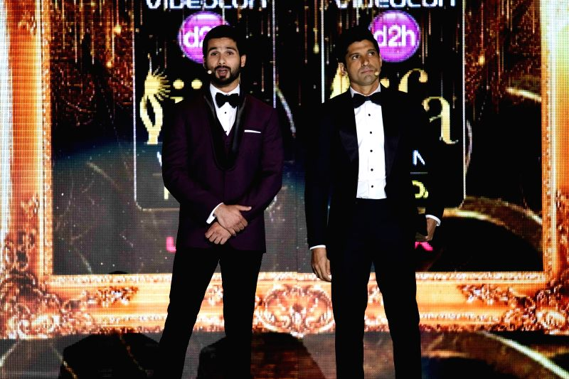 Actors Shahid Kapoor and Farhan Akhtar during the fourth and final day of the 15th International Indian Film Academy (IIFA) Awards 2014 at Raymond James Stadium in Tampa, Florida, United States of ... - Shahid Kapoor and Farhan Akhtar