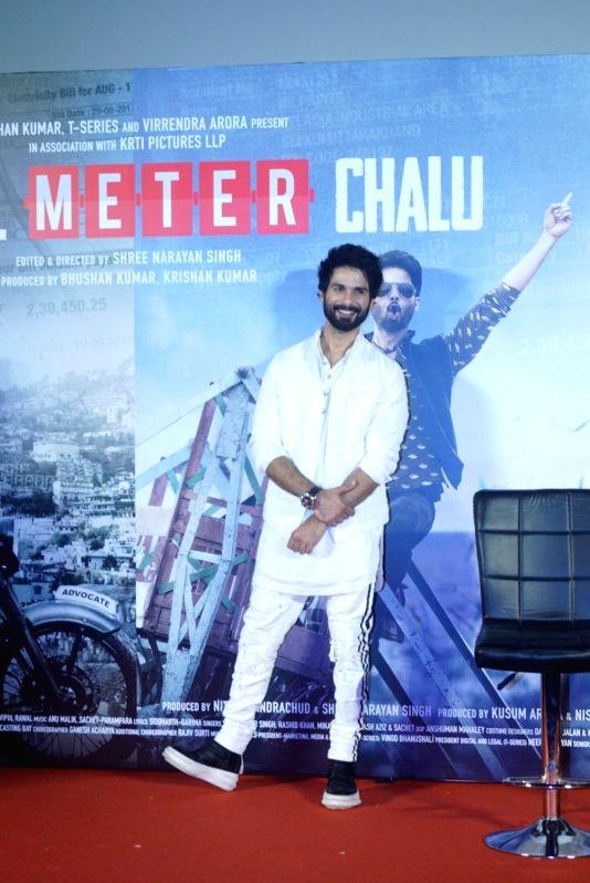"Actors Shahid Kapoor at the trailer launch of his upcoming film ""Batti Gul Meter Chalu"" in Mumbai on Aug 10, 2018. - Shahid Kapoor"