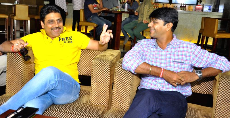 Actors Shailesh Lodha and Tanmay Vekaria during a press conference in Jaipur on June 20, 2014.