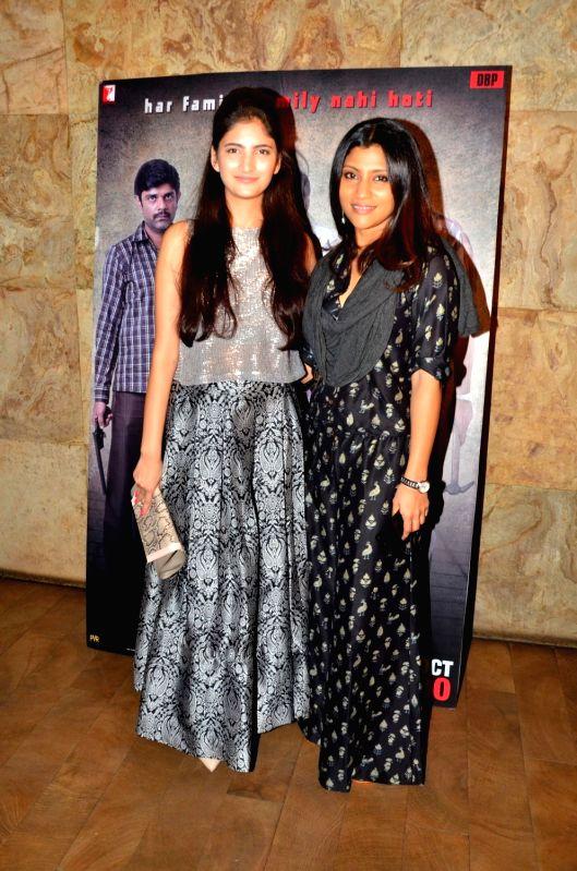 Actors Shivani Raghuvanshi and Konkona Sen Sharma during the screening of film Titly in Mumbai on Oct 29, 2015. - Shivani Raghuvanshi and Konkona Sen Sharma