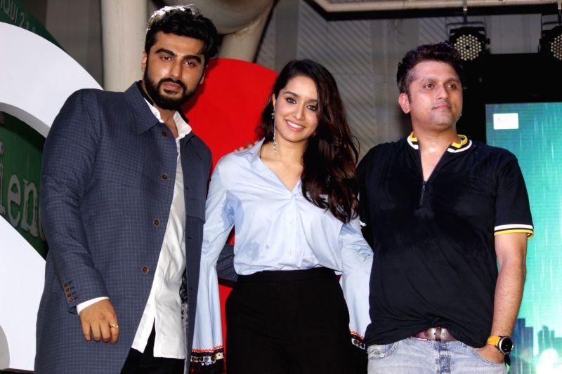 Actors Shraddha Kapoor and Arjun Kapoor during the music concert of film Half Girlfriend in Mumbai on May 4, 2017. - Shraddha Kapoor and Arjun Kapoor
