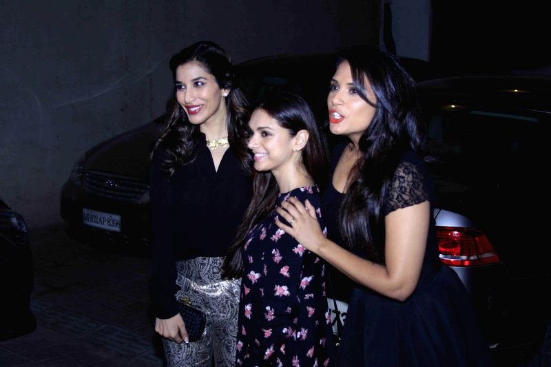 Actors Sophie Choudry, Aditi Rao Hydari and Richa Chadda during the birthday party of Fashion designer Manish Malhotra in Mumbai, on Dec 6, 2014. - Sophie Choudry, Aditi Rao Hydari and Richa Chadda