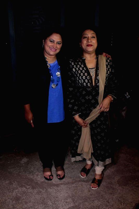 Actors Sukanya Kulkarni and Swati Chitnis during the success party of the film Ventilator in Mumbai on April 25, 2017. - Sukanya Kulkarni and Swati Chitnis