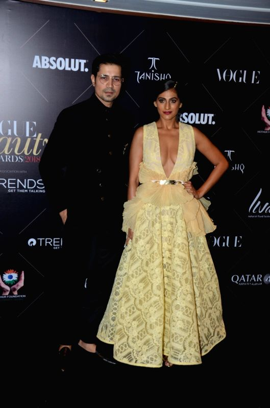 "Actors Sumeet Vyas and Kubbra Sait at the red carpet of ""Vogue Beauty Awards"" in Mumbai on July 31, 2018. - Sumeet Vyas and Kubbra Sait"