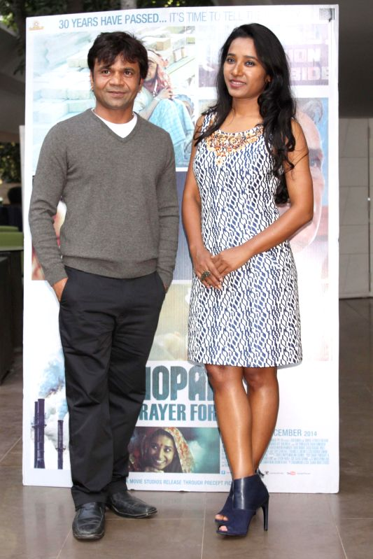 Actors Tannishtha Chatterjee and Rajpal Yadav during the promotion of film ``Bhopal a Prayer for Rain in New Delhi on Dec 2, 2014. - Tannishtha Chatterjee and Rajpal Yadav