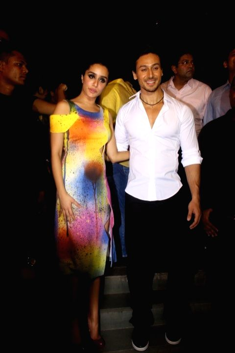 Actors Tiger Shroff and Shraddha Kapoor during the success party of film Baaghi in Mumbai on May 12, 2016. - Tiger Shroff and Shraddha Kapoor