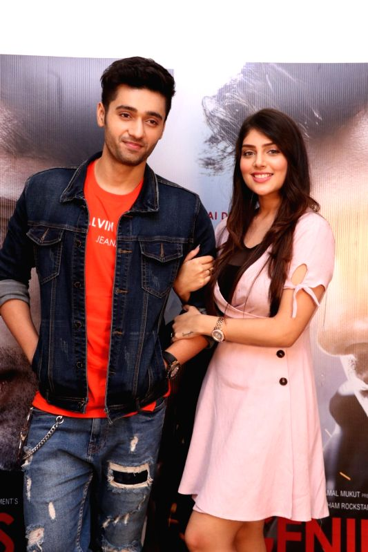 "Actors Utkarsh Sharma and Ishita Chauhan during the promotion of their upcoming film ""Genius"" in Mumbai on Aug 10, 2018. - Utkarsh Sharma and Ishita Chauhan"